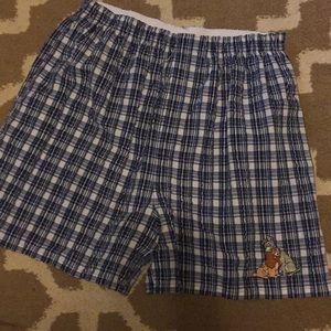 Disney plaid medium shorts